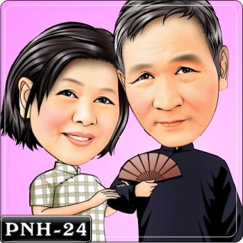 情侶雙人Q版漫畫
